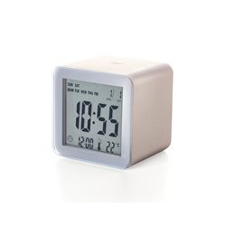 Cube sveglia lcd sensor, Oro - Lexon