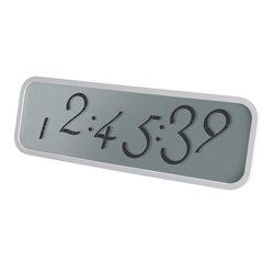 "Script orologio sveglia digitale lcd 11""-large, Bianco - Lexon"