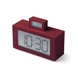 Inout sveglia doppio display, Prugna - Lexon