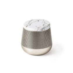 Miami sound speaker, Oro/Marmo Bianco - Lexon