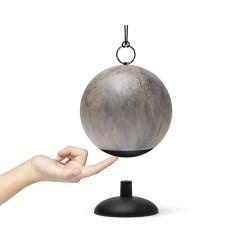 Cloche lampada a led ricaricabile, Pietra grigia - Lexon