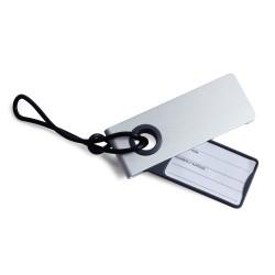 Neo porta etichetta per valigia, Alluminio - Lexon