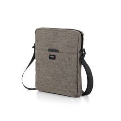 One borsa porta tablet con tracolla, Marrone - Lexon