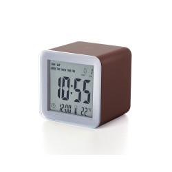 Cube sveglia lcd sensor, Marrone - Lexon