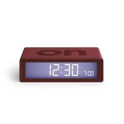 """Flip deco orologio sveglia """"on/off"""", Rosso scuro - Lexon"""