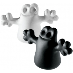 Carlo, a little ghost on the top of a bottle, set di due tappi - Alessi