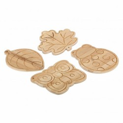 Confezione 4 taglieri legno, Autunno - Thun