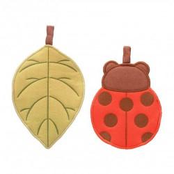 Confezione regalo 2 presine foglia e coccinella - Thun