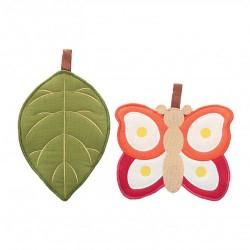 Confezione regalo 2 presine foglia e farfalla - Thun