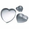 Forma cuore in alluminio Cm. 15x5 h. - Decora