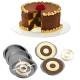 Set per torta a scacchiera cm. 23x4 h. - Wilton