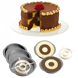 Set per torta a scacchiera cm. 23x4 h. - Decora