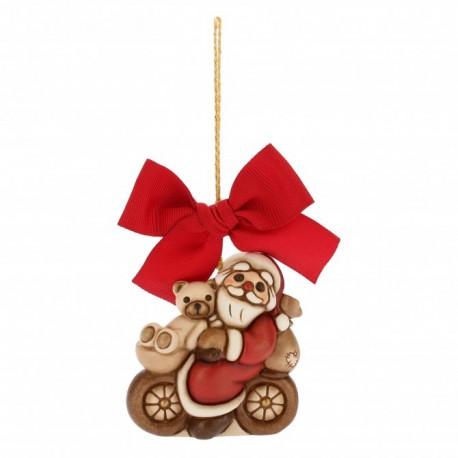 Addobbi Natalizi Thun.Addobbo Babbo Natale Su Bici Grande Thun