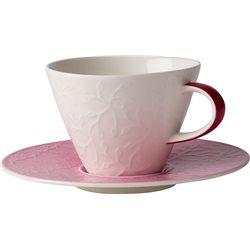 Caffe Club Floral Touch Rose Tazza caffe latte piatto 2pezzi - Villeroy & Boch