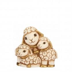 Gruppo di pecore presepe classico, bianco - Thun