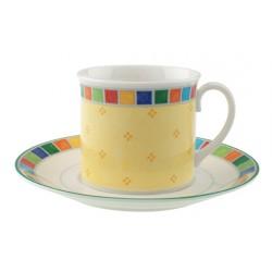 Twist Alea Limone Tazza colazione con piatto 2pezzi - Villeroy & Boch