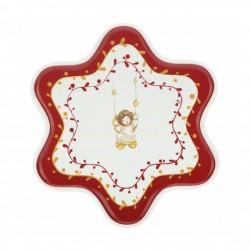 Piatto torta stella, Dolce Natale - Thun