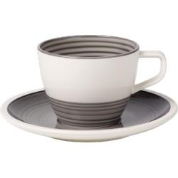 Manufacture gris Tazza caffe con piatto 2 pezzi - Villeroy & Boch