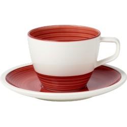 Manufacture rouge Tazza caffe con piatto 2 pezzi - Villeroy & Boch
