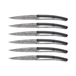 Set 6 coltelli da tavola Deejo Toile De Jouy Paperstone Titanio - Deejo