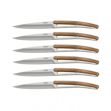 Set 6 coltelli da tavola Deejo Ulivo Specchio - Deejo