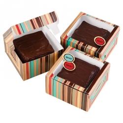 Scatole Portadolci Brownie 3 Pezzi Cm. 9