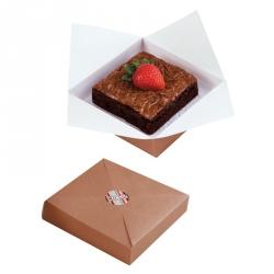 Scatole Porta Dolci Brownie 6 Pezzi Cm. 11