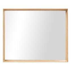 Specchiera legno naturale Cm. 51x42x5 - L'oca Nera