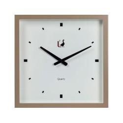Orologio da parete fango Cm. 40x40x7,5 - L'oca Nera