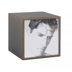 Portafoto quadrato piccolo bronzo Cm. 10,2x10,2x10 (10x10) - L'oca Nera