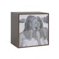 Portafoto quadrato grande bronzo Cm. 16x16x10 (15x15) - L'oca Nera