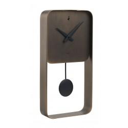 Orologio pendolo quadrato bronzo Cm. 40x20x5,5 - L'oca Nera