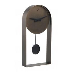 Orologio pendolo tondo bronzo Cm. 40x20x5,5 - L'oca Nera