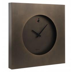 Orologio da parete bronzo Cm. 45,5x45,5x5 - L'oca Nera
