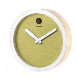 Orologio da parete verde Cm. 35x8 - L'oca Nera