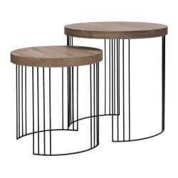 Tavolino tondo piccolo - naturale Cm. 45x45 h. - L'oca Nera