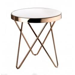 Tavolino tondo piccolo Cm. 42,5x46 h. - L'oca Nera