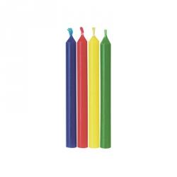 Candele tonde arcobaleno 24 pezzi cm. 7 - Wilton