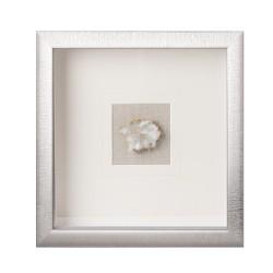 Pannello decorativo quadrato con cristallo naturale Cm. 30x30x4 - L'oca Nera