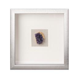 Pannello decorativo quadrato con cristallo ametista Cm. 30x30x4 - L'oca Nera