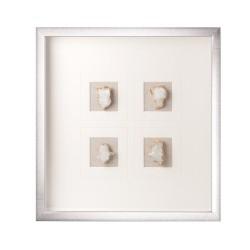 Pannello decorativo quadrato con cristallo naturale Cm. 50x50x4 - L'oca Nera