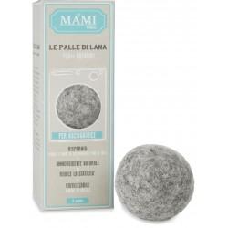 Palle lana per lavasciuga, grigie 3 pezzi - Mami Milano