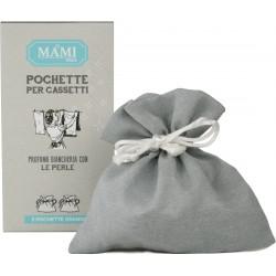 Sacchetto grande grigio per perle profumate 2 pezzi - Mami Milano