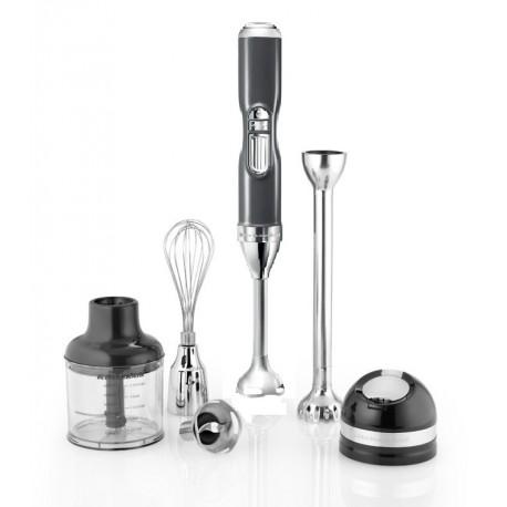 Frullatore a immersione cordless Argento metallizzato (+ accessori) - KitchenAid