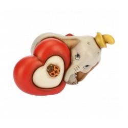 Dumbo con cuore Cm. 10 - Thun