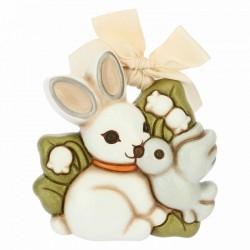 Formella piccola coniglio magico con colomba - Thun