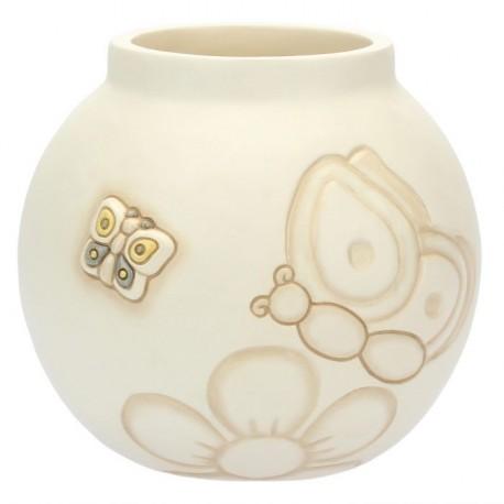 Vaso medio Elegance con farfalle e fiore - Thun