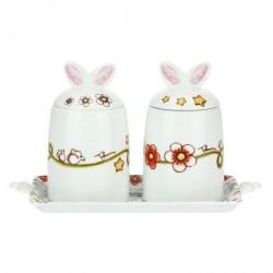 Set 2 barattoli con vassoio Coniglio magico - Thun