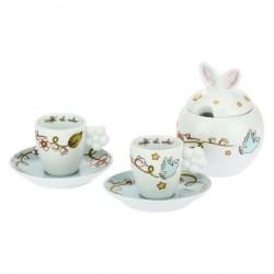 Set 2 tazzine e zuccheriera Coniglio magico - Thun