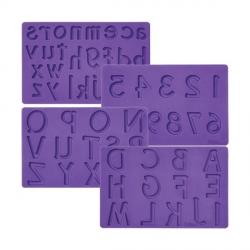 Set 4 Stampi Silicone Alfanumerici